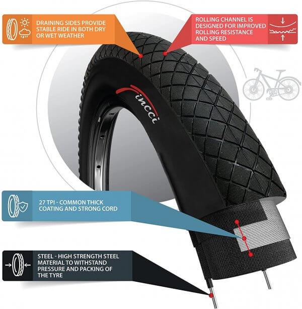 Fincci 20 x 1.95 54-406 BMX Tyre