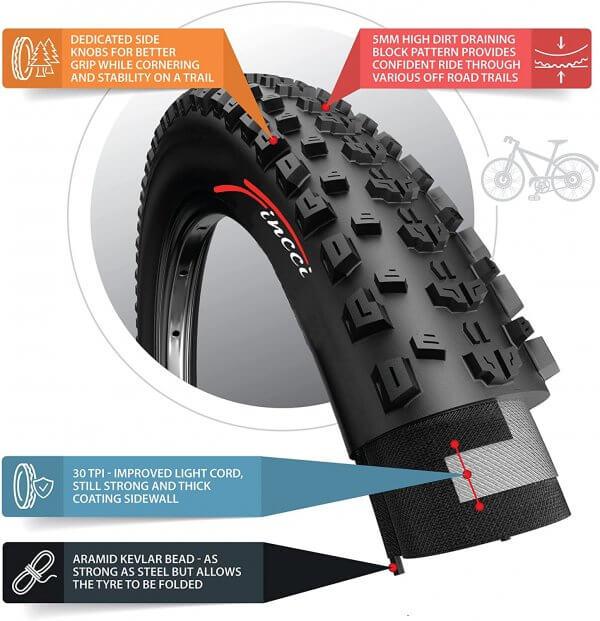 Fincci 26 x 2.35 57-559 MTB Tyre