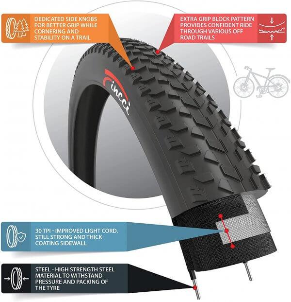 Fincci Fat 26 x 4.0 100-559 MTB Tyre